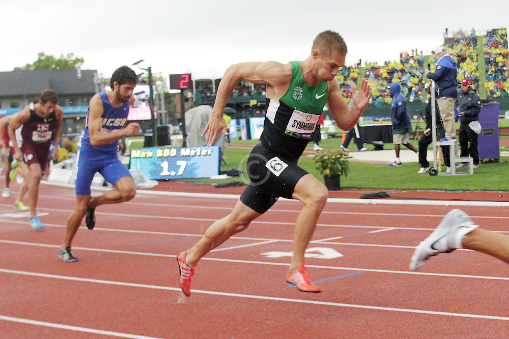 Olympic Trials Eugene 2012: men's 800 meters semifinal, Nick Symmonds