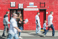 Fans make their way to the turnstiles outside Oakwell, Barnsley prior to the Sky Bet League 1 Playoff Semi Final First Leg between Barnsley and Walsall<br /> Picture by Matt Wilkinson/Focus Images Ltd 07814 960751<br /> 14/05/2016