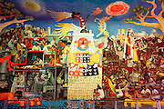 MEXICO, MEXICO CITY Hospital de La Raza; Rivera mural