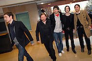 UK. London. Rock group Snow Patrol at the Brit Awards at London's Earls Court..Photo©Steve Forrest/Workers' Photos
