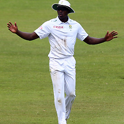 Durban South Africa - December 29, Kagiso Rabada of South Africa during the match between South Africa  and England day 4 of the 1st test , 29 December 2015. (Photo by Steve Haag) images for social media must have consent from Steve Haag