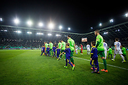 Players of NK Olimpija Ljubljana during football match between NK Olimpija Ljubljana and NK Maribor in Semifinal of Slovenian Football Cup 2016/17, on April 5, 2017 in SRC Stozice, Ljubljana, Slovenia.  Photo by Ziga Zupan / Sportida