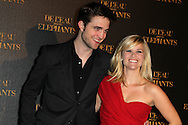 "PARIS, FRANCE - APRIL 28:  Robert Pattinson and Reese Witherspoon attend ""Water for Elephants' Premiere at Le Grand Rex Theater on April 28, 2011 in Paris, France.  (Photo by Tony Barson/FilmMagic)"