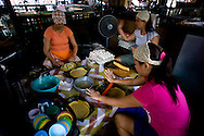 Preparing empanadas (popular street food) in Vigan.<br />