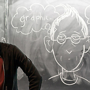 Cartoonist and graphic novelist Alison Bechdel