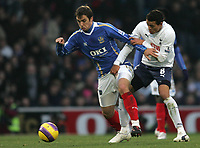 Photo: Lee Earle/Sportsbeat Images.<br /> Portsmouth v Tottenham Hotspur. The FA Barclays Premiership. 15/12/2007. Portsmouth's Niko Kranjcar (L) battles with Jermaine Jenas.