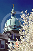 Harrisburg, PA, State Street, Springtime, Church