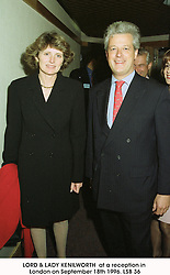 LORD & LADY KENILWORTH  at a reception in London on September 18th 1996.LSB 36
