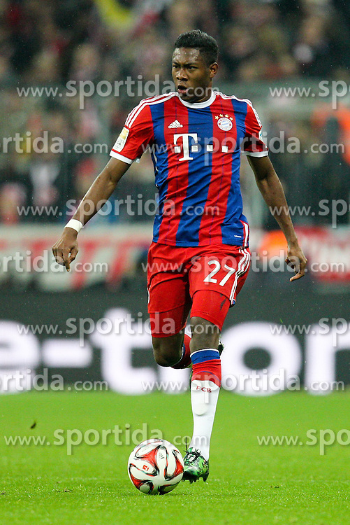 27.02.2015, Allianz Arena, Muenchen, GER, 1. FBL, FC Bayern Muenchen vs 1. FC K&ouml;ln, 23. Runde, im Bild David Alaba #27 (FC Bayern Muenchen) // during the German Bundesliga 23rd round match between FC Bayern Munich and 1. FC K&ouml;ln at the Allianz Arena in Muenchen, Germany on 2015/02/27. EXPA Pictures &copy; 2015, PhotoCredit: EXPA/ Eibner-Pressefoto/ Kolbert<br /> <br /> *****ATTENTION - OUT of GER*****