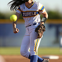 Adam Robison | BUY AT PHOTOS.DJOURNAL.COM<br /> Tupelo's Ivy Watts pitches to start the game against Hamilton Tuesday night.