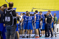 Players of PGE Vive Kielce during handball match between RK Celje Pivovarna Lasko and PGE Vive Kielce in Group Phase A+B of VELUX EHF Champions League, on September 30, 2017 in Arena Zlatorog, Celje, Slovenia. Photo by Urban Urbanc / Sportida