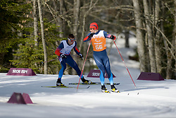ARTEMOV Alexsander Guide: CHEREPANOV llya competing in the Nordic Skiing XC Long Distance at the 2014 Sochi Winter Paralympic Games, Russia