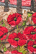 Stoney Middleton well dressing in memorium commemorating 100 years since WW1, 2014