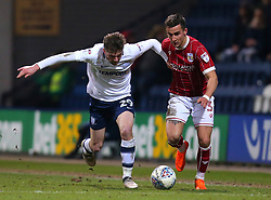 Joe Bryan of Bristol City takes on Tom Barkhuizen of Preston North End - Mandatory by-line: Robbie Stephenson/JMP - 06/03/2018 - FOOTBALL - Deepdale - Preston, England - Preston North End v Bristol City - Sky Bet Championship