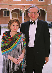 SIR NORMAN & LADY FOWLER at a dinner in London on 9th June 1998.<br /> MID 25