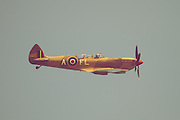A rare two-seater Supermarine Spitfire at Wings Over Wairarapa 2013 over Hood Aerodrome, Masterton, New Zealand