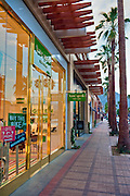 Palm Desert; El Paseo Drive, Boutiques; Mannequins; near Palm Springs; Palm Trees; famous; retailers; fashion; haute couture; shopping; CA; California; Coachella Valley; Desert;