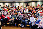 Audience members, including supportive family, friends and teachers watch the the Southeast Ohio Regional Spelling Bee Regional Saturday, March 16, 2013. The Regional Spelling Bee was sponsored by Ohio University's Scripps College of Communication and held in Margaret M. Walter Hall on OU's main campus.
