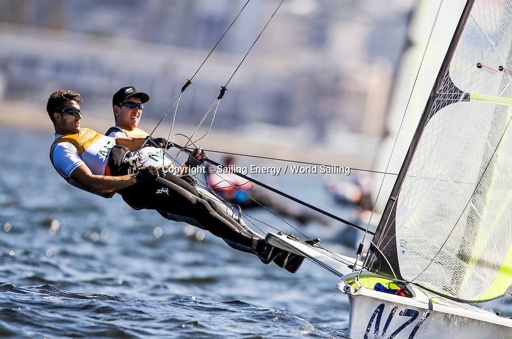 Peter Burling and Blair Tuke of New Zealand racing in the 49er class. The Rio 2016 Olympic Sailing Competition features 380 athletes from 66 nations, in 274 boats racing across ten Olympic disciplines. Racing runs from Monday 8 August through to Thursday 18 August 2016 with 217 male and 163 female sailors racing out of Marina da Gloria in Rio de Janeiro, Brazil. Sailing made its Olympic debut in 1900 and has been a mainstay at every Olympic Games since 1908. For more information or requests please contact Daniel Smith at World Sailing on marketing@sailing.org or phone +44 (0) 7771 542 131.