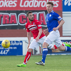 Queen of the South v Dunfermline Athletic SPFL Championship Season 2016/17 Palmerston Park 06 May 2017<br />Nicky Clark makes it 1-0<br /><br />CRAIG BROWN | sportPix.org.uk