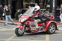 Motorbike with leprechaun on Wicklow Street in Dublin Ireland