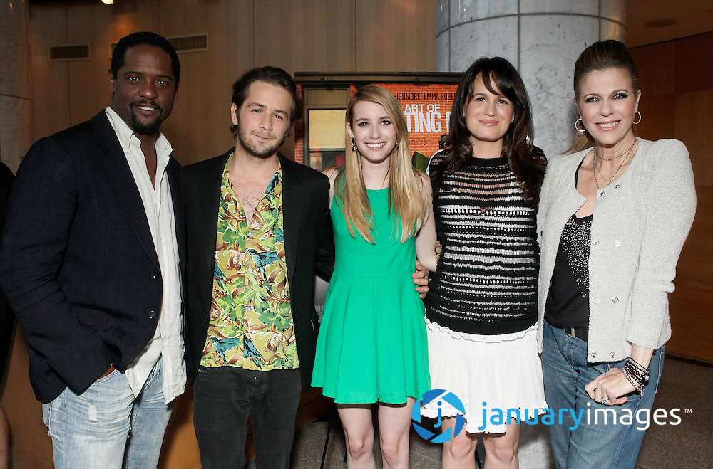 "BEVERLY HILLS, CA - JUNE 06:  Blair Underwood, Michael Angarano, Emma Roberts, Elizabeth Reaser and Rita Wilson attend a Fox Searchlight screening Of ""The Art Of Getting By"" at Clarity Theater on June 6, 2011 in Beverly Hills, California.  (Photo by Todd Williamson/WireImage)"