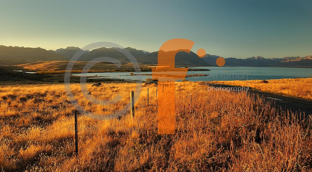 Richard Furhoff 100101_NewZealand_DSC3870.tif.Late Afternoon, Lake Tekapo. South Island. New Zealand..