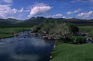Mongolia..  cattle breeders in   Orkhon valley   : éleveurs et troupeaux dans la vallée de l'Orkhon Orkhon Valley