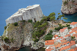 21.06.2015, Dubrovnik, CRO, Dubrovnik ist eine Stadt im südlichen Kroatien an der Adria, im Bild Panoramic view of Dubrovnik from Srdj Mountain. Fort Lovrijenac or St. Lawrence Fortress // is a city in southern Croatia on the Adriatic Sea, pictured on 17. June in Dubrovnik, Croatia on 2015/06/21. EXPA Pictures © 2015, PhotoCredit: EXPA/ Pixsell/ Grgo Jelavic<br /> <br /> *****ATTENTION - for AUT, SLO, SUI, SWE, ITA, FRA only*****