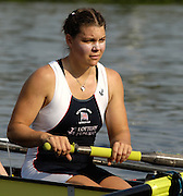 Poznan, POLAND.  2006, FISA, Rowing World Cup, GBR W8+ Natasha HOWARD, waits at the  the start pontoon on the 'Malta Regatta course;  Poznan POLAND, Fri. 16.06.2006. © Peter Spurrier   ....[Mandatory Credit Peter Spurrier/ Intersport Images] Rowing Course:Malta Rowing Course, Poznan, POLAND