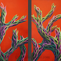 Cholla cacti are widely found in the Southwest deserts, and provide endless opportunities for playing with shape and color!<br />