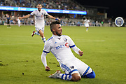 March 2, 2019; San Jose, CA, USA; Montreal Impact midfielder Saphir Taider (8) celebrates after scoring a goal against the San Jose Earthquakes during the first half at Avaya Stadium.