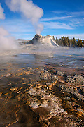 Castle Geyser, Upper Geyser Basin, Yellowstone National Park, Wyoming.