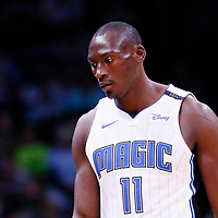 11 November 2017: Orlando Magic center Bismack Biyombo (11) is seen during the Denver Nuggets 125-107 victory over the Orlando Magic, at the Pepsi Center, Denver, Colorado, USA.