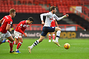 Tom Barkhuizen (29) of Preston North End bursts forwards during the EFL Sky Bet Championship match between Bristol City and Preston North End at Ashton Gate, Bristol, England on 10 November 2018.