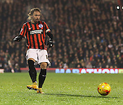 Brighton's Inigo Calderon during the Sky Bet Championship match between Fulham and Brighton and Hove Albion at Craven Cottage, London, England on 29 December 2014. Photo by Phil Duncan.