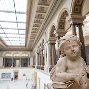A 17th century sculpture title La Prudence by Ludovicus Willemsens (1630-1702) on display at the Royal Museums of Fine Arts in Belgium (in French, Musées royaux des Beaux-Arts de Belgique), one of the most famous museums in Belgium. The complex consists of several museums, including Ancient Art Museum (XV - XVII century), the Modern Art Museum (XIX ­ XX century), the Wiertz Museum, the Meunier Museum and the Museé Magritte Museum.