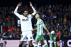 February 28, 2019 - Valencia, Spain - Dani Parejo of Valencia CF  During Spanish King La Copa match between  Valencia cf vs Real Betis Balompie Second leg  at Mestalla Stadium on February 28, 2019. (Photo by Jose Miguel Fernandez/NurPhoto) (Credit Image: © Jose Miguel Fernandez/NurPhoto via ZUMA Press)