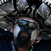 22 october 2006: A Raiders fans is seen during the Oakland Raiders 22-9 victory over the Arizona Cardinals at the McAfee Coliseum in Oakland, California, USA.
