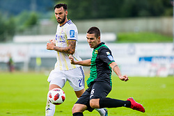 Anze Pisek of NK Rudar Velenje  and Amir Dervisevic of NK Maribor during football match between NK Rudar Velenje and Maribor in 1st Round of Prva liga Telekom Slovenije 2018/19, on July 22, 2018 in Mestni stadion ob Jezeru, Velenje , Slovenia. Photo by Ziga Zupan / Sportida