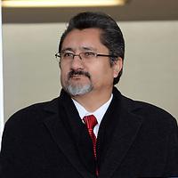Metepec, México.- Luis Manuel de la Mora Ramírez, presidente de COPARMEX en el Estado de México durante la inauguración de la Expo Halcón 2014, en donde se presentaron 125 proyectos tecnológicos y 46 prototipos que buscan desarrollar tecnología que beneficie al sector empresarial y propicie mayor crecimiento a la entidad.  Agencia MVT / Crisanta Espinosa