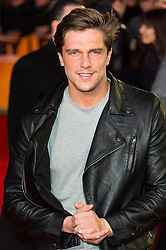 © Licensed to London News Pictures. 22/02/2016. LEWIS BLOOR attends the GRIMSBY Film premiere. The film centres around a black-ops spy whose brother is a football hooligan.  London, UK. Photo credit: Ray Tang/LNP