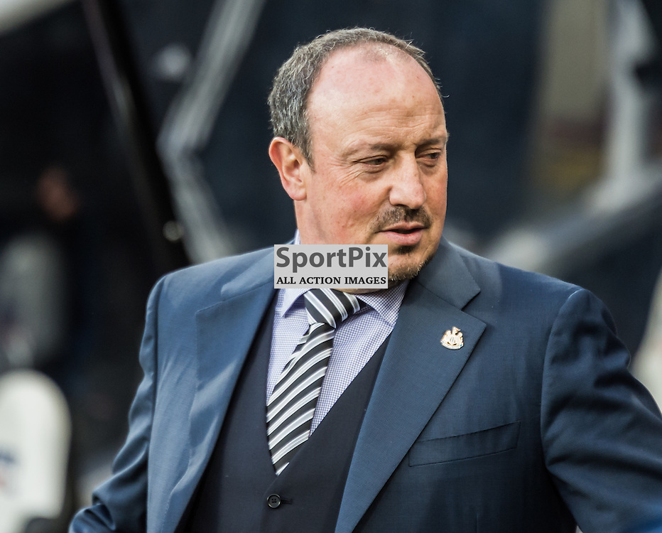 Newcastle United manager Rafael Benitez in the Premier League match between Newcastle United and Manchester City <br /> <br /> (c) John Baguley | SportPix.org.uk