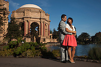 Engagement session around The San Francisco Bay Area.