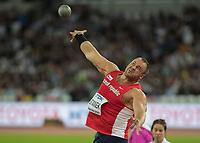 Athletics - 2017 IAAF London World Athletics Championships - Day Three, Evening Session<br /> <br /> Men's Shot Putt Final<br /> <br /> Tomas Stanek (Czech Republic) at the London Stadium<br /> <br /> COLORSPORT/DANIEL BEARHAM