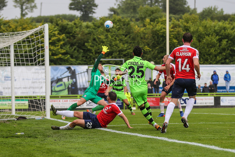 Forest Green Rovers Mohammed Chemlal (25) shoots at goal during the Vanarama National League match between Forest Green Rovers and York City at the New Lawn, Forest Green, United Kingdom on 20 August 2016. Photo by Shane Healey.