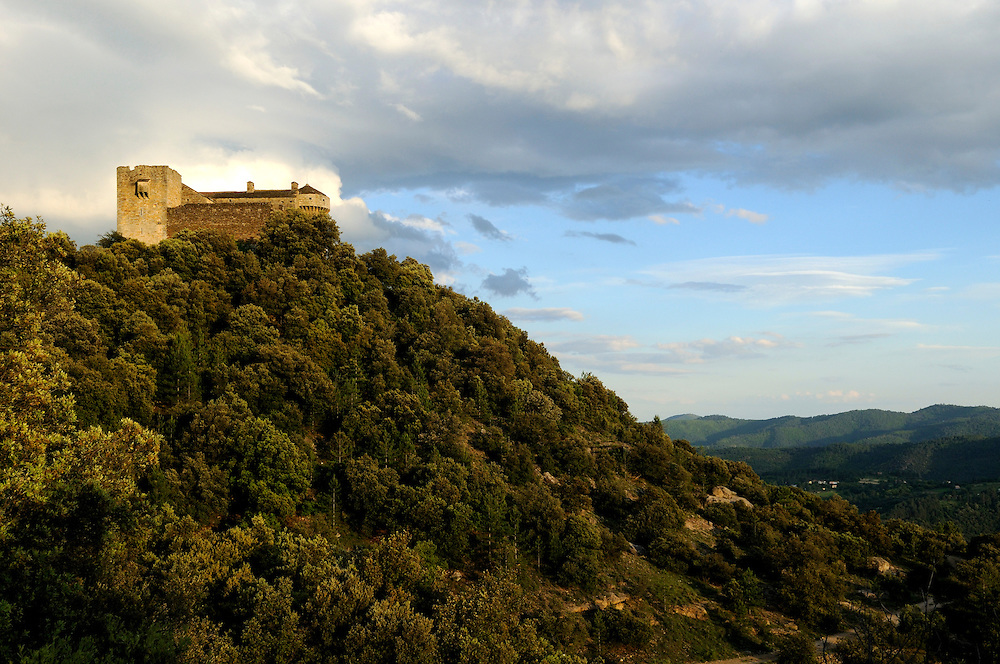 France, Languedoc Roussillon, Gard (30), Cevennes, Aujac, château du Cheylard