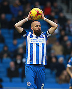 Brighton defender Bruno Saltor during the Sky Bet Championship match between Brighton and Hove Albion and Bolton Wanderers at the American Express Community Stadium, Brighton and Hove, England on 13 February 2016. Photo by Bennett Dean.