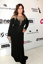 February 24, 2019 - West Hollywood, CA, USA - LOS ANGELES - FEB 24:  Marcia Gay Harden at the Elton John Oscar Viewing Party on the West Hollywood Park on February 24, 2019 in West Hollywood, CA (Credit Image: © Kay Blake/ZUMA Wire)