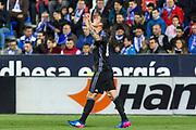 James Rodriguez of Real Madrid celebrates after scoring a goal during the Spanish championship Liga football match between Club Deportivo Leganes and Real Madrid on April 05, 2017 at Butarque Stadium in Leganes, Spain - Photo Asenjo Sesma / SpainProSportsImages / DPPI / ProSportsImages / DPPI